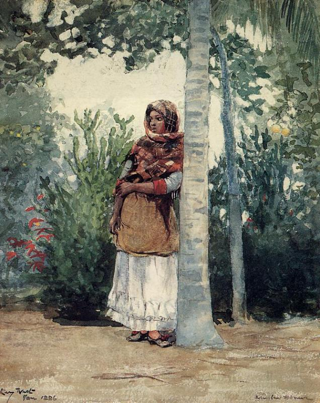 Under a Palm Tree | Winslow Homer | oil painting