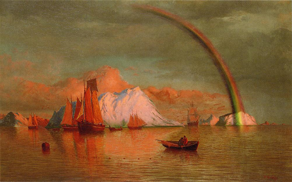 Arctic Sunset with Rainbow | William Bradford | oil painting