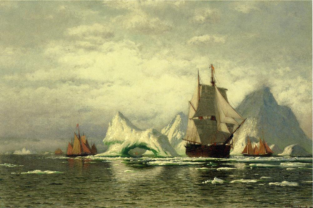 Arctic Whaler Homeward Bound Among the Icebergs | William Bradford | oil painting