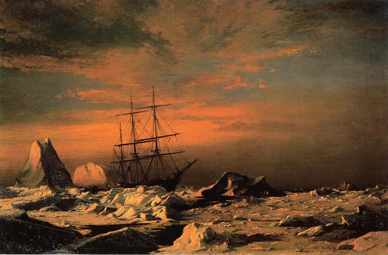 Ice Dwellers Watching the Invaders | William Bradford | oil painting