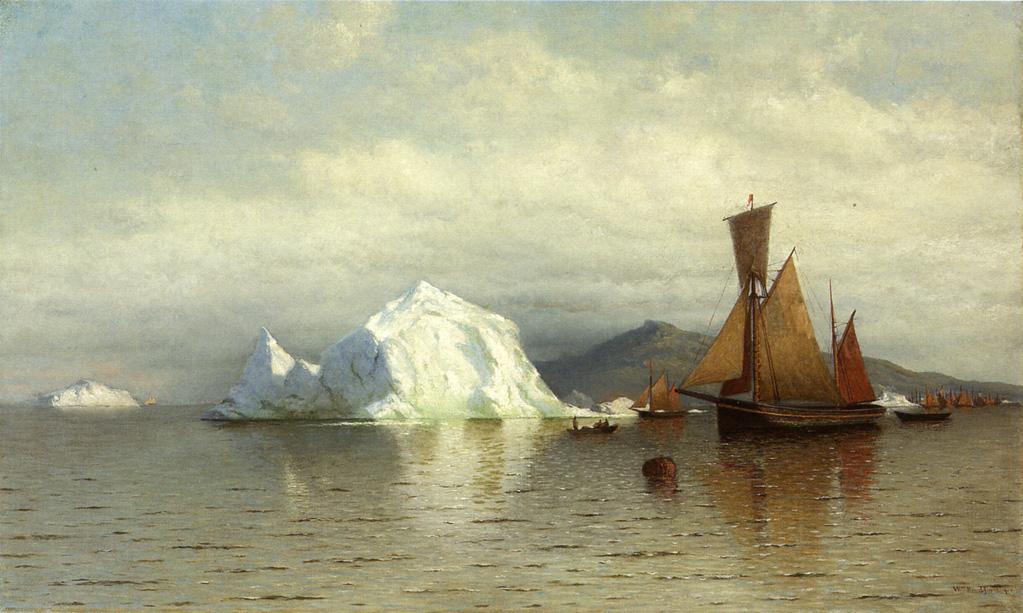 Labrador Fishing Boats near Cape Charles   William Bradford   oil painting