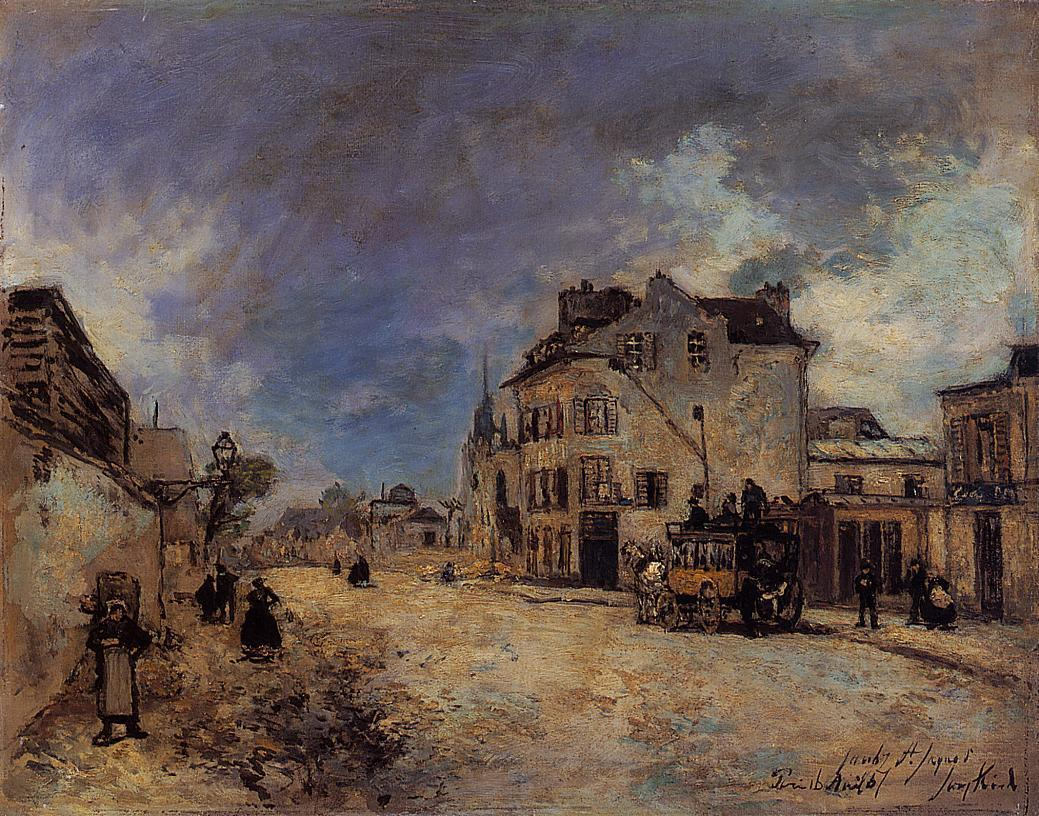 Faubourg Saint Jacques the Stagecoach | Johan Barthold Jongkind | oil painting