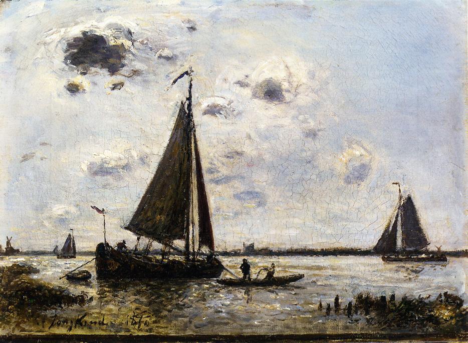 Near Dordrecht | Johan Barthold Jongkind | oil painting