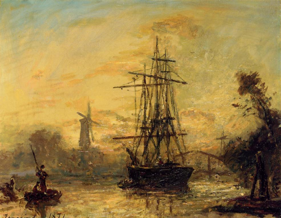 Rotterdam | Johan Barthold Jongkind | oil painting