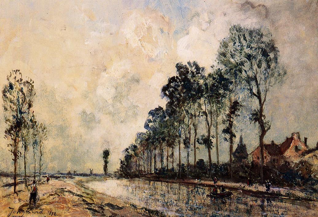 The Oorcq Canal Aisne | Johan Barthold Jongkind | oil painting