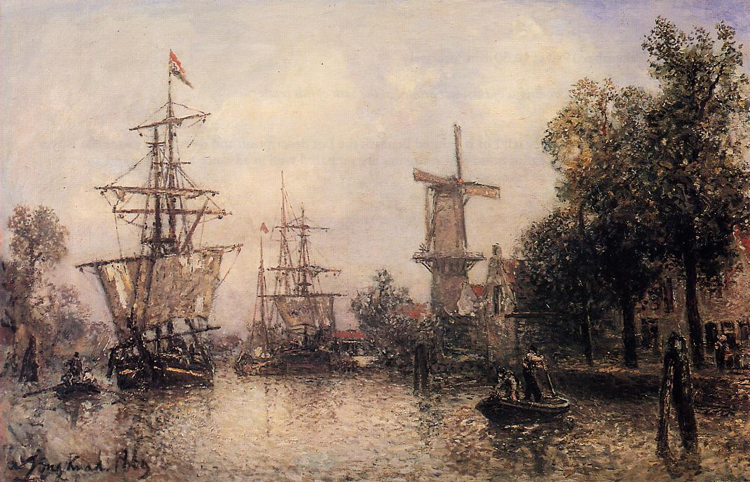 The Port of Rotterdam | Johan Barthold Jongkind | oil painting