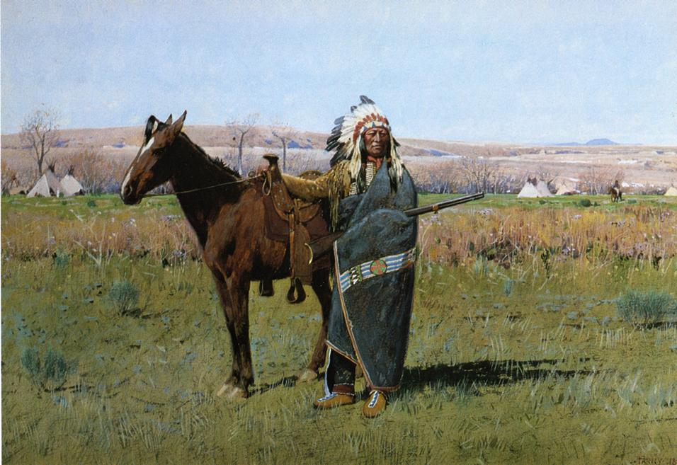 Chief Spotted Tail | Henry Farny | oil painting