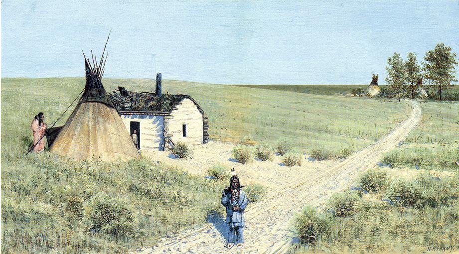 Fort Totten Trail | Henry Farny | oil painting