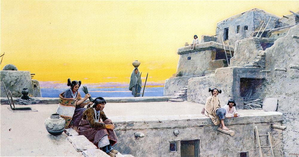 Moki Courtship | Henry Farny | oil painting