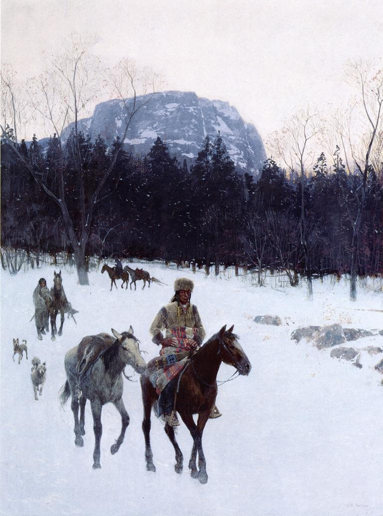 Obsidian Mountain in The Yellowstone | Henry Farny | oil painting
