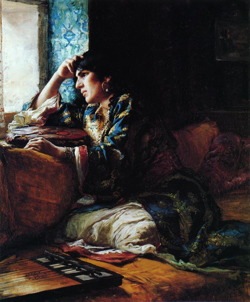 Aicha a Woman of Morocco | Frederick Arthur Bridgeman | oil painting