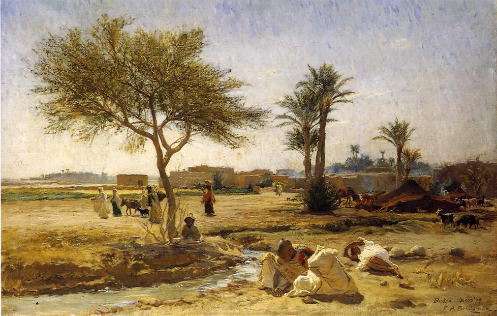 An Arab Village | Frederick Arthur Bridgeman | oil painting