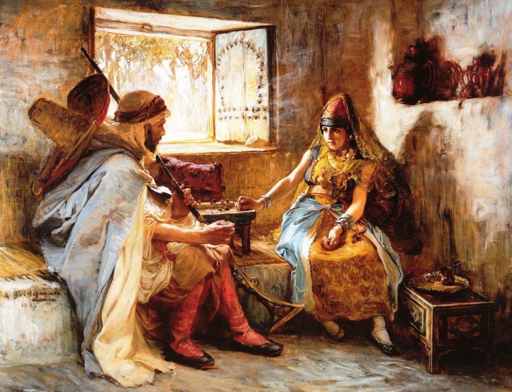 The Game of Chance   Frederick Arthur Bridgeman   oil painting