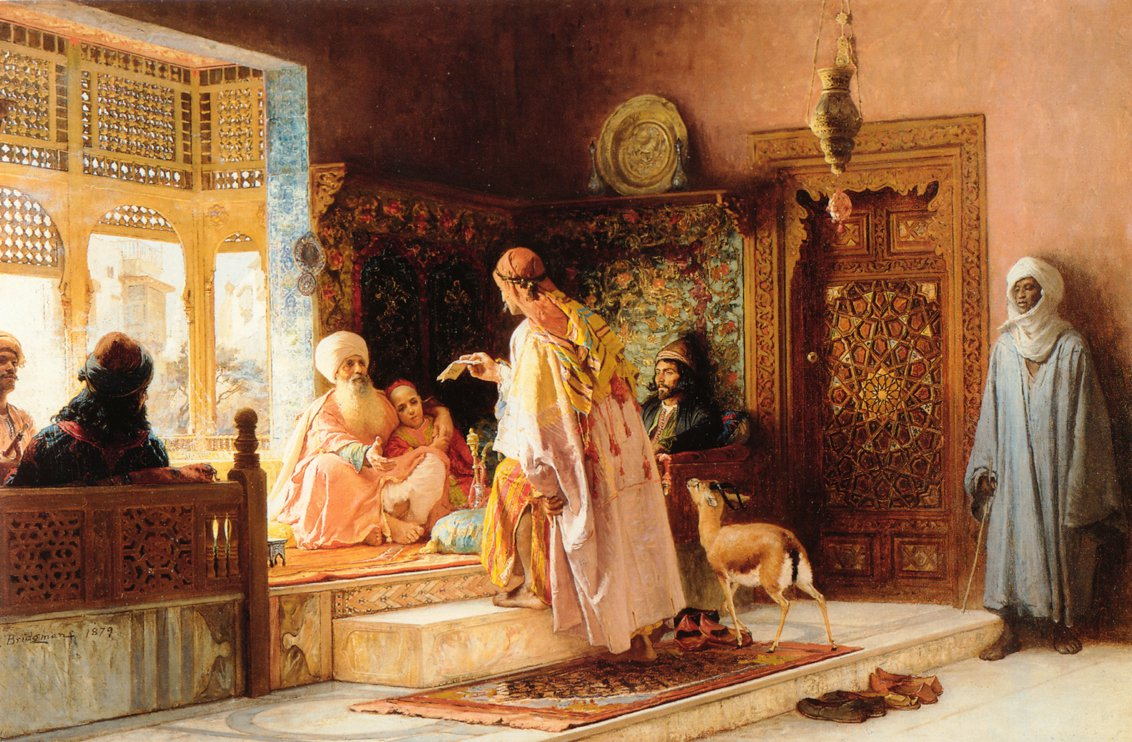 The Messenger   Frederick Arthur Bridgeman   oil painting