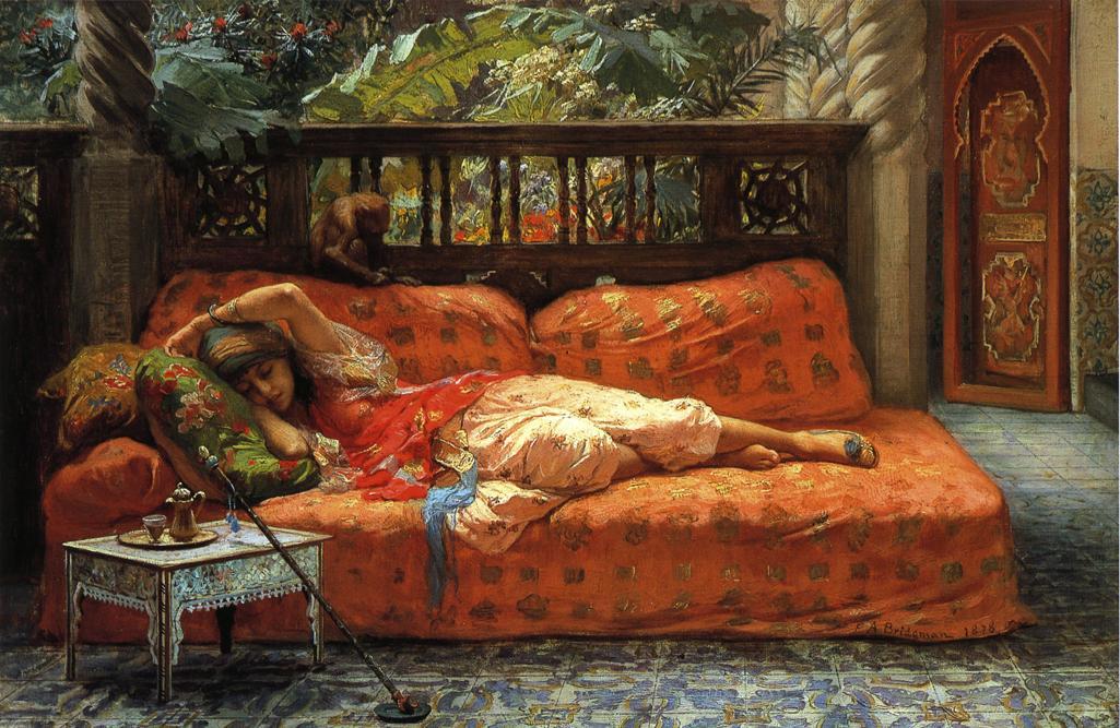 The Siesta | Frederick Arthur Bridgeman | oil painting