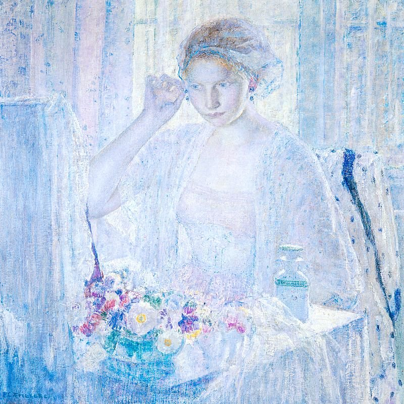 Girl with Earrings | Frederick Carl Frieseke | oil painting