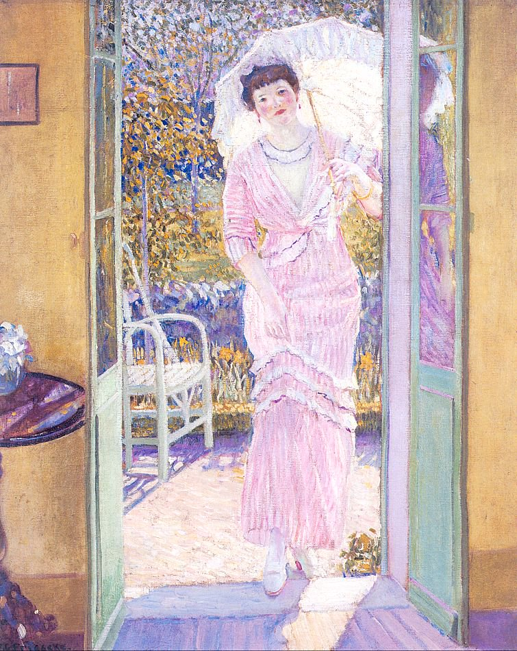 In the Doorway | Frederick Carl Frieseke | oil painting