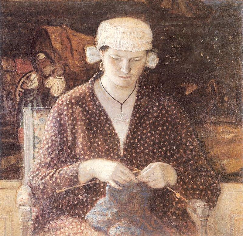 Normandy Girl | Frederick Carl Frieseke | oil painting