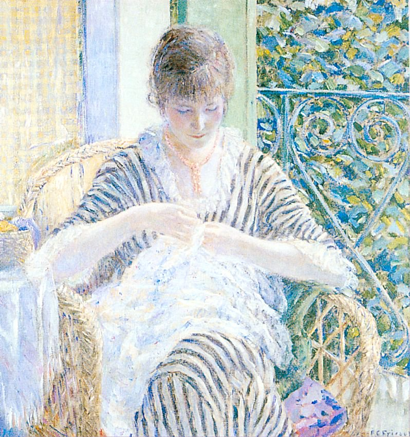 On the Balcony | Frederick Carl Frieseke | oil painting
