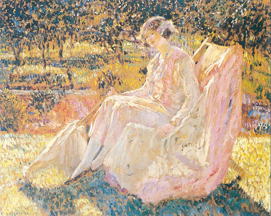 Sunbath | Frederick Carl Frieseke | oil painting