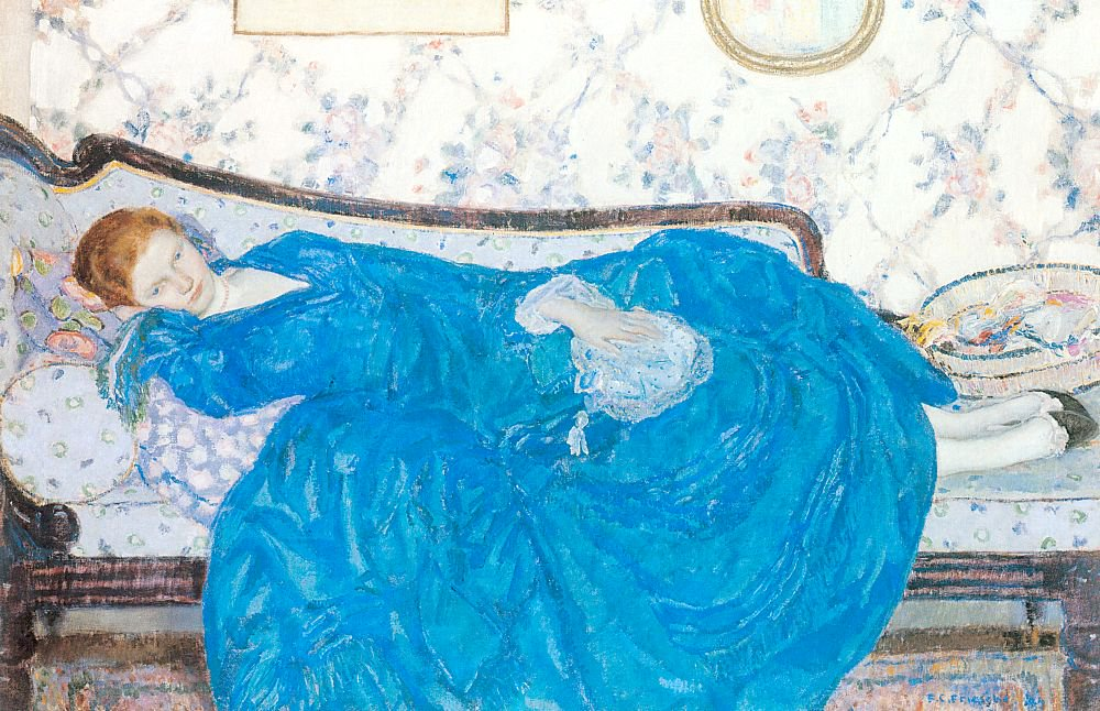 The Blue Gown | Frederick Carl Frieseke | oil painting