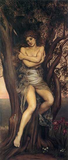 Dryad   Evelyn de Morgan   oil painting