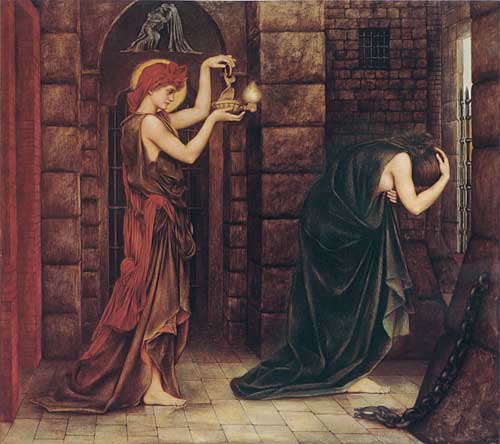 Hope in the Prison of Despair   Evelyn de Morgan   oil painting