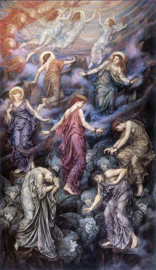 Kingdom of Heaven   Evelyn de Morgan   oil painting