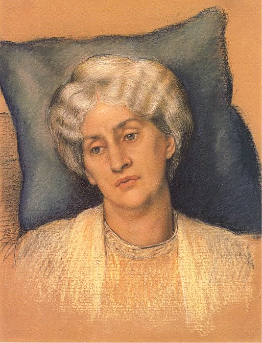 Portrait of Jane Morris (Study for The Hourglass)   Evelyn de Morgan   oil painting