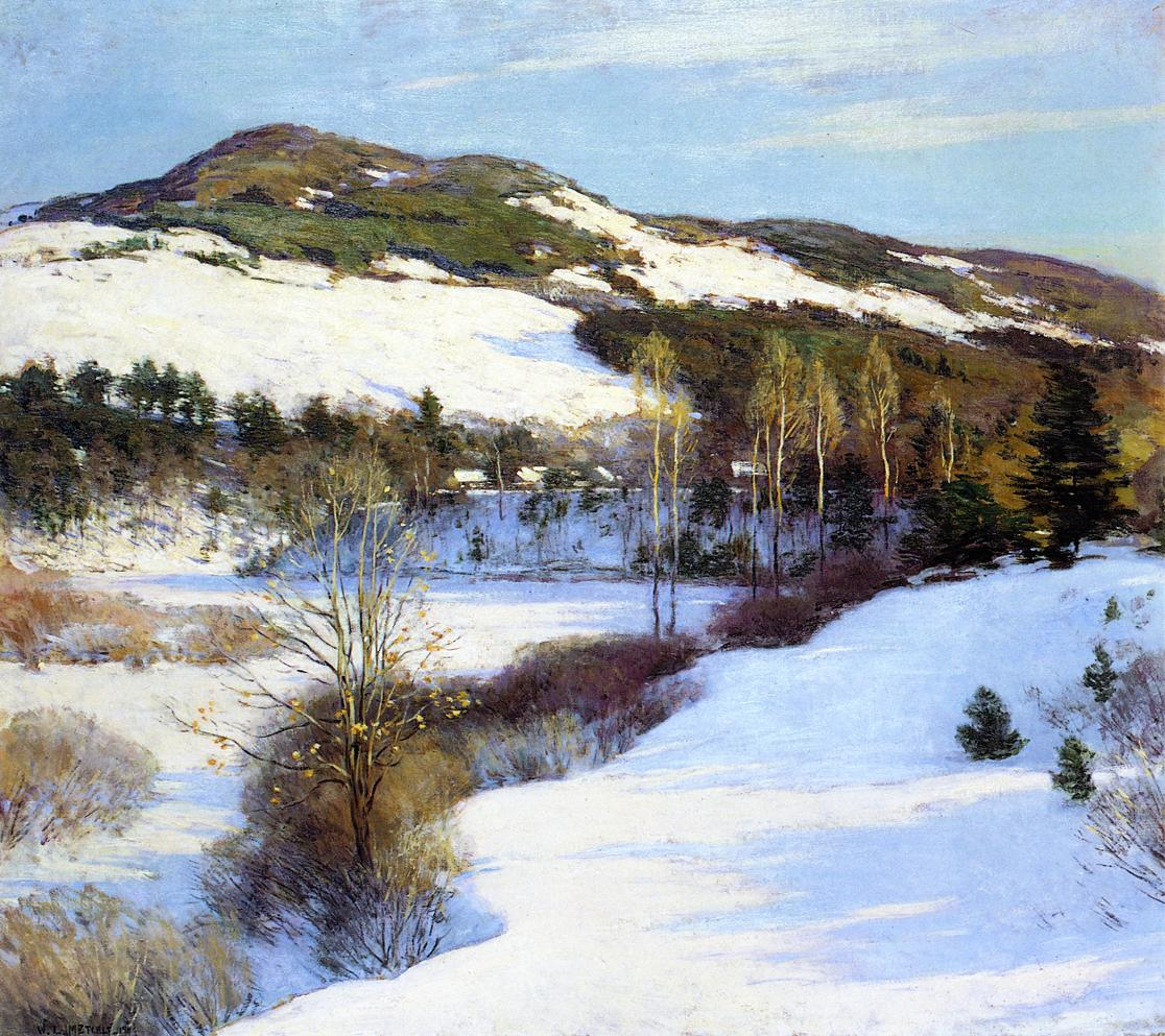Cornish Hills | Willard Leroy Metcalf | oil painting