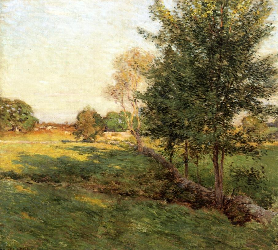 Lengthening Shadows | Willard Leroy Metcalf | oil painting