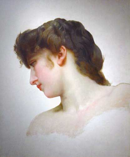 etude de Tete de Femme Blonde Profil (Study of a Blonde Woman's Profile) | William Bouguereau | oil painting