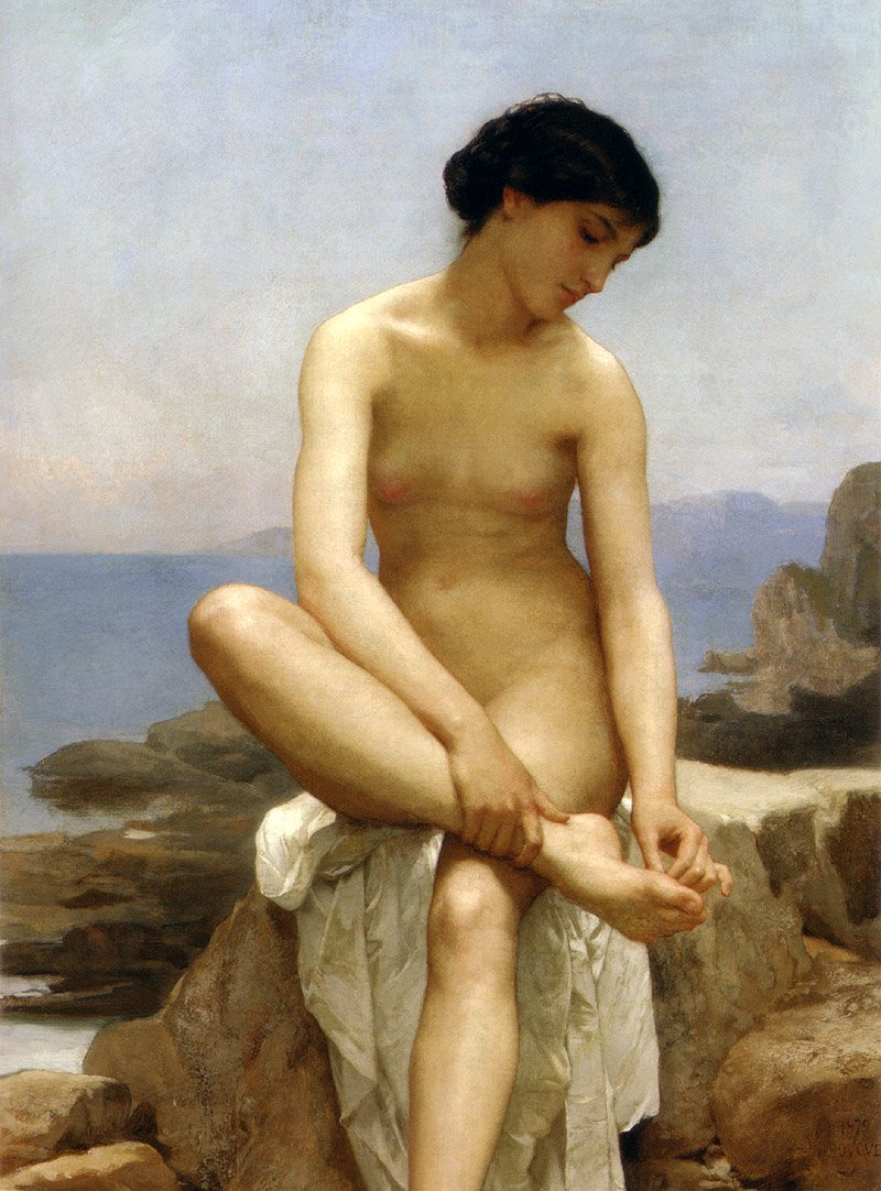 The Bather | William Bouguereau | oil painting