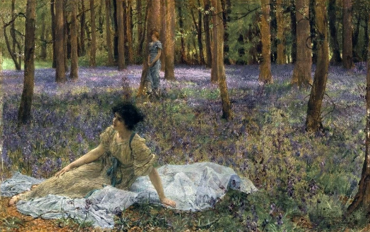 Bluebells | Sir Lawrence Alma Tadema | oil painting