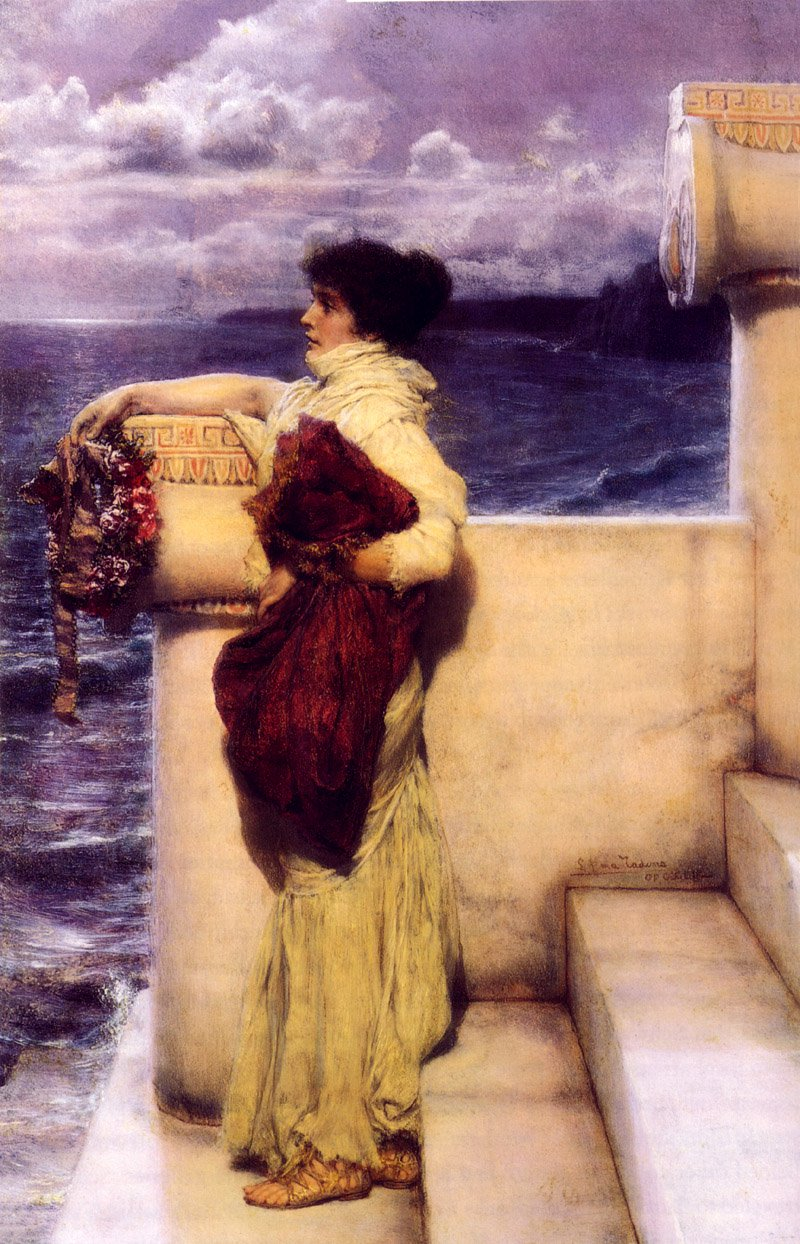 Hero | Sir Lawrence Alma Tadema | oil painting