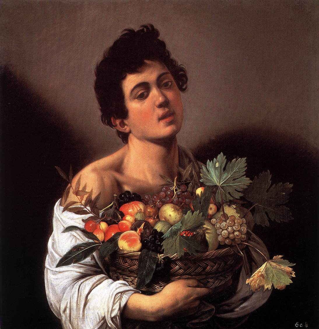 Boy with a Basket of Fruit | Michelangelo Merisi da Caravaggio | oil painting