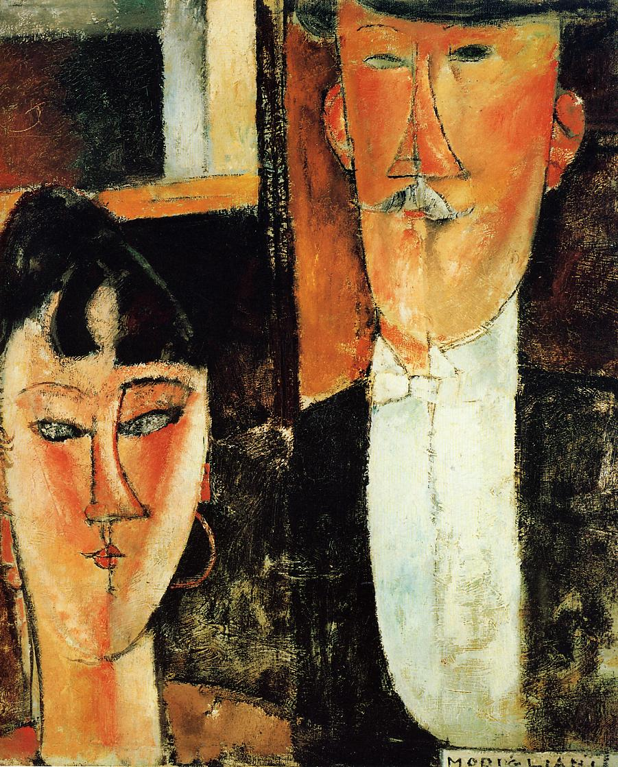 Bride and Groom (aka The Newlyweds) 1915 1916 | Amedeo Modigliani | oil painting