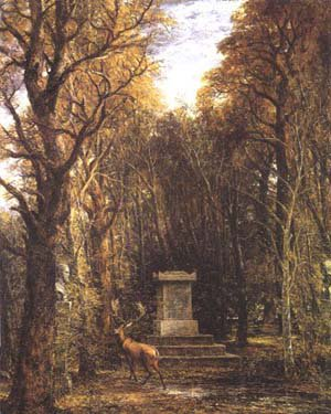 The Cenotaph to Joshua Reynolds Memory | John Constable | oil painting
