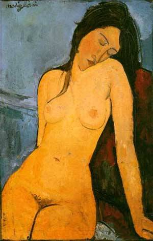 Seated Nude1 1916 | Amedeo Modigliani | oil painting