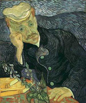 Portrait Of Doctor Gachet 1890 | Vincent Van Gogh | oil painting