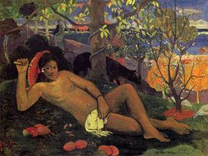 Te Arii Vahine (aka The King's Wife) 1896 | Paul Gauguin | oil painting