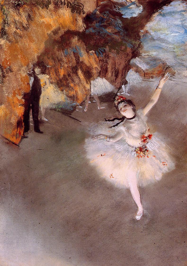 The Star (aka Dancer on Stage) 1878 | Edgar Degas | oil painting