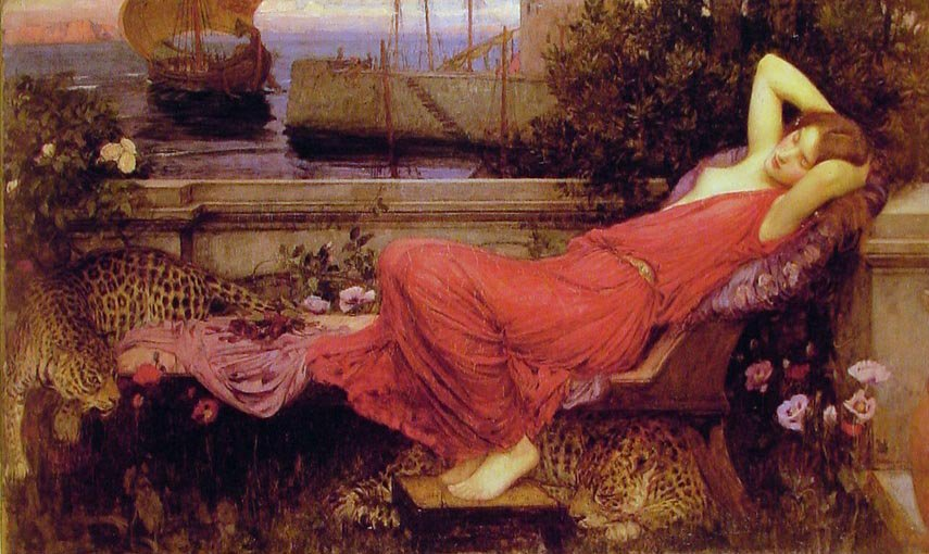 Ariadne | John William Waterhouse | oil painting