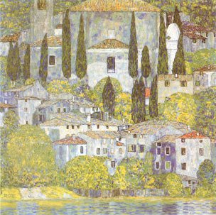 The Church at Cassone Sul Garda | Gustav Klimt | oil painting