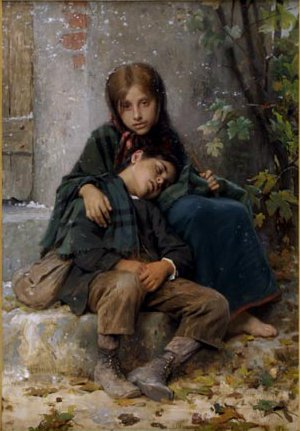 Le Jeune Mendiants (Young Beggars) | William Bouguereau | oil painting