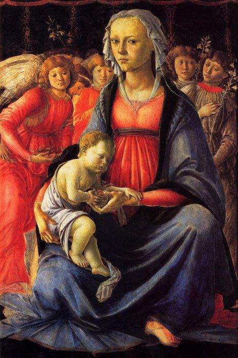 virgin and child | Sandro Botticelli | oil painting