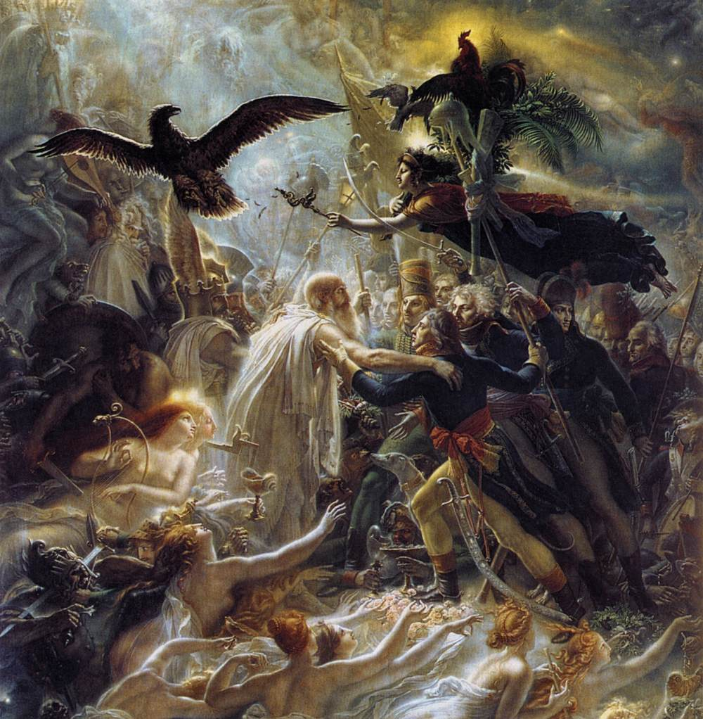 Ossian Receiving the Ghosts of French Heroes | Anne Louis Girodet Trioson | oil painting