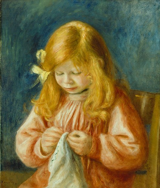 Jean Renoir Sewing | Pierre Auguste Renoir | oil painting