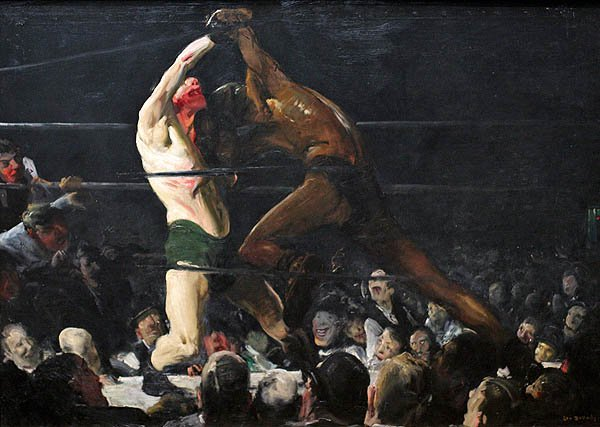 Both Members of the Club | George Bellows | oil painting