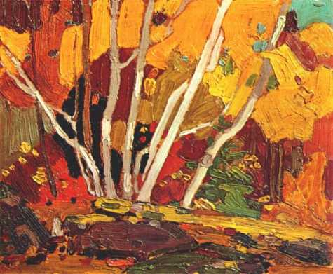 Autumn Birches | Tom Thompson | oil painting